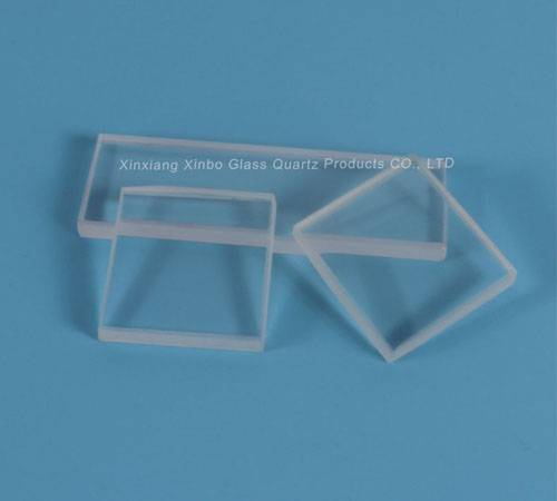 rectangle polished quartz glass plates