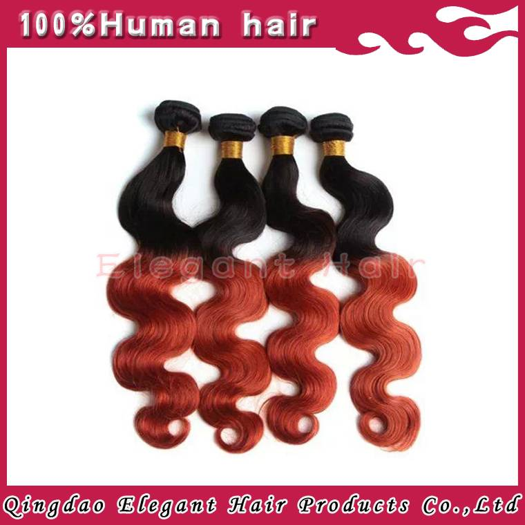 New arrival two tone ombre color body wave european virgin hair