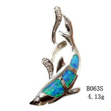 Sterling silver Opal Set With Opal Inlayed-B063S