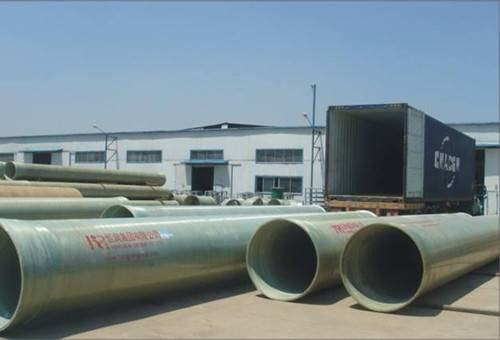 GRP pipe with sand filler inside high strength and low price