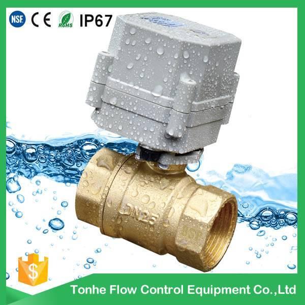 DN25 2 way IP67 1 inch mini cwx-15n motorized electric ball valve
