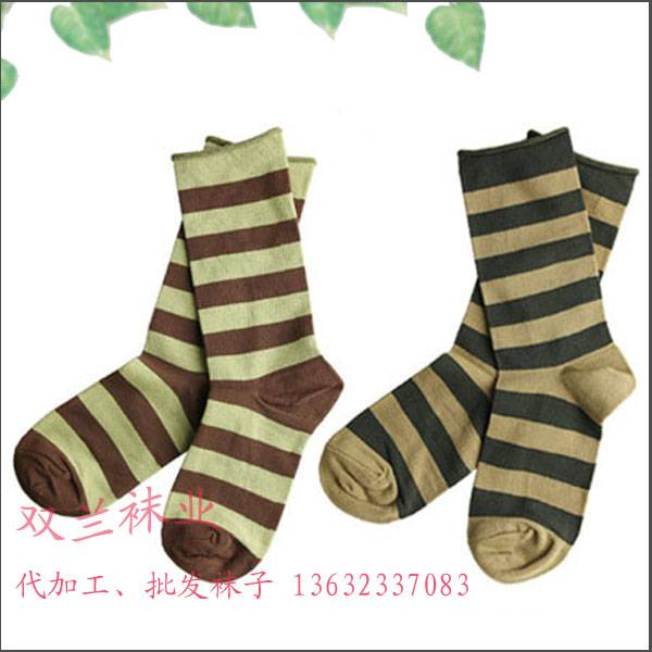 stripe dress casual men's socks from socks factory