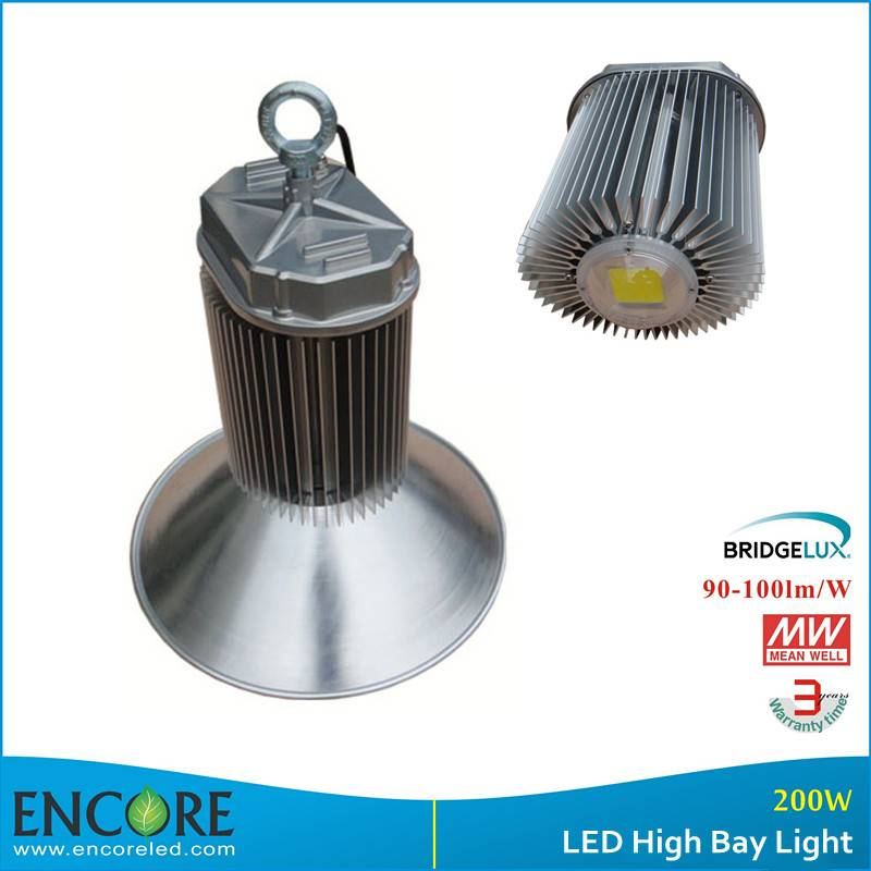 200W IP65 Bridgelux COB Led High Bay with Meanwell driver