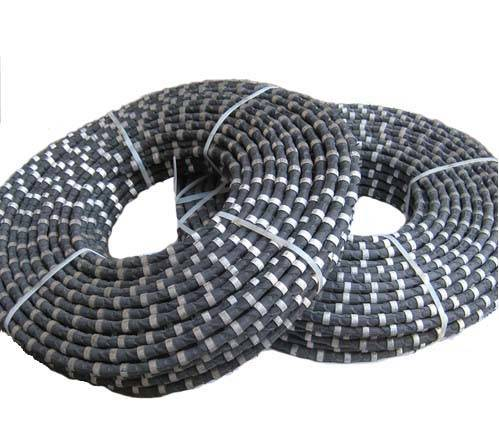 diamond beaded rope cutting granite
