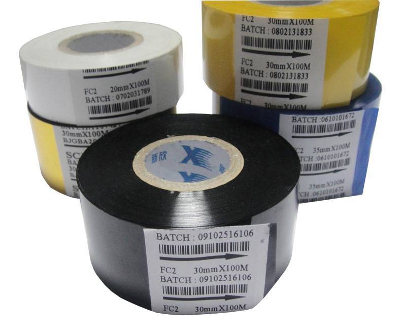 Black 30mm100M Hot stamping foil to print Batch-number for food packaging bags