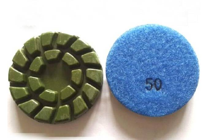 Green Spiral Dry Wet Concrete Polishing Pads