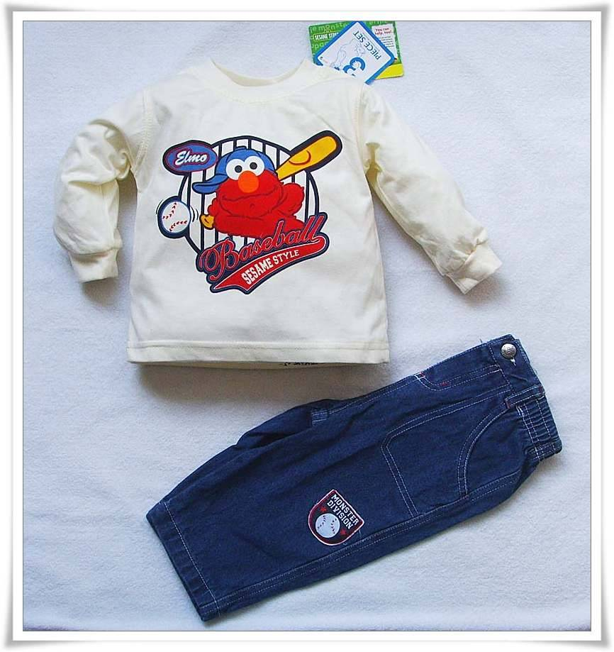 Supply factory exporting baby children garment clothes suits in stock