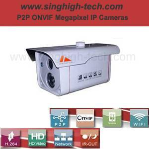 P2p Onvif 720p 1.0MP Waterproof IR IP Camera (NS6084)