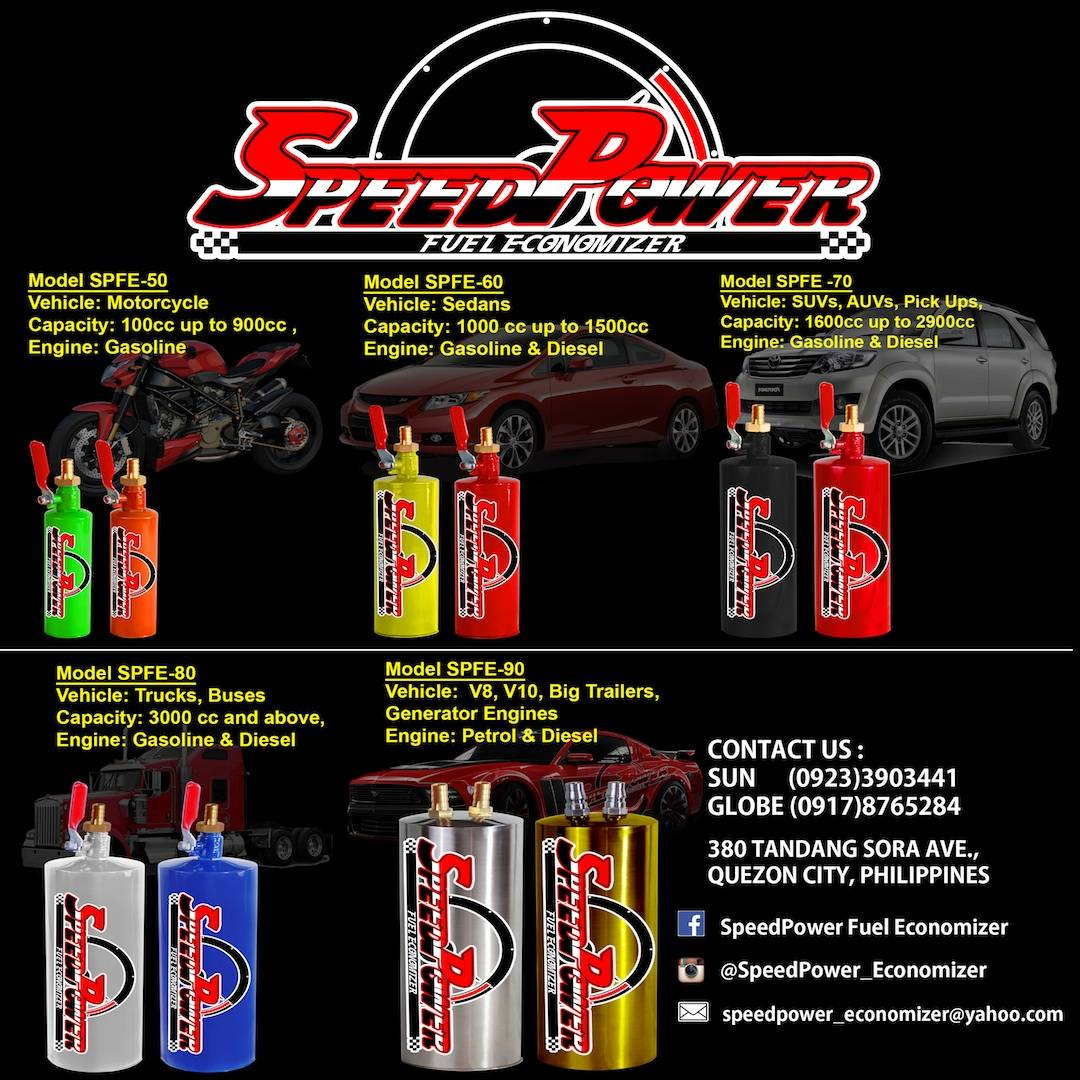 SPEEDPOWER CAR Fuel Economizer - CARS-1100cc up 1500cc