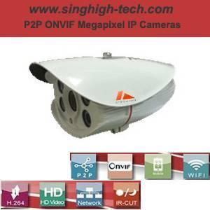 P2p Onvif 720p 1.0MP Waterproof IR IP Camera (NS5086F)
