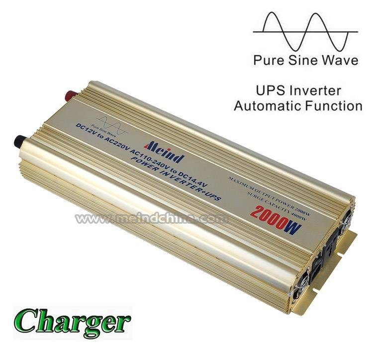 2000W Power Inverter with UPS Pure Sine Wave AC converter Car Inverters Power Supply DC Inverter