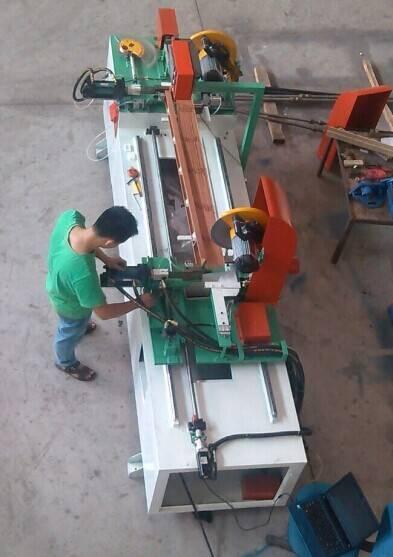 wooden shutter double cutting machine