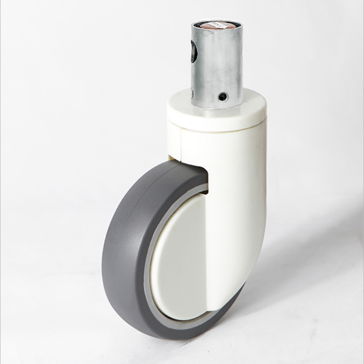 single plate center control medical casters