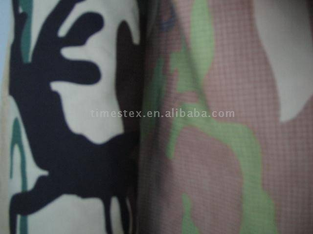 T/C check fabric with printing