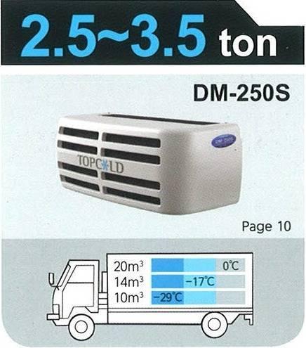TOPCOLD / DM-250S / Truck Refrigeration Unit / Reefer Van / Refrigerator Truck / Made in Korea