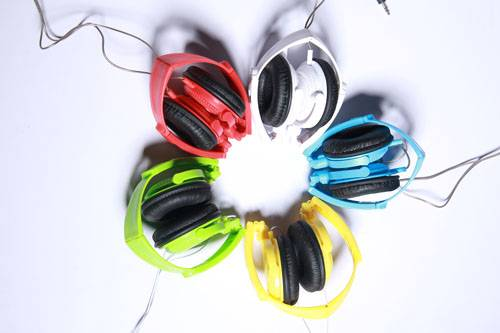 Five color optional computer headphones wired heaphones
