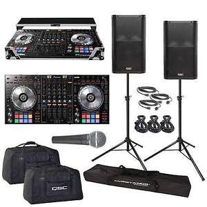 DDJ-SZ DJ Controller QSC K12 Powered PA Speakers Road Case & Stands