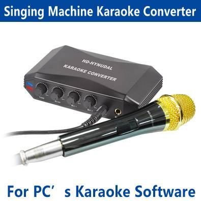 Karaoke Singing Machine Converter with Dynamic microphone HDD Audio Mixer