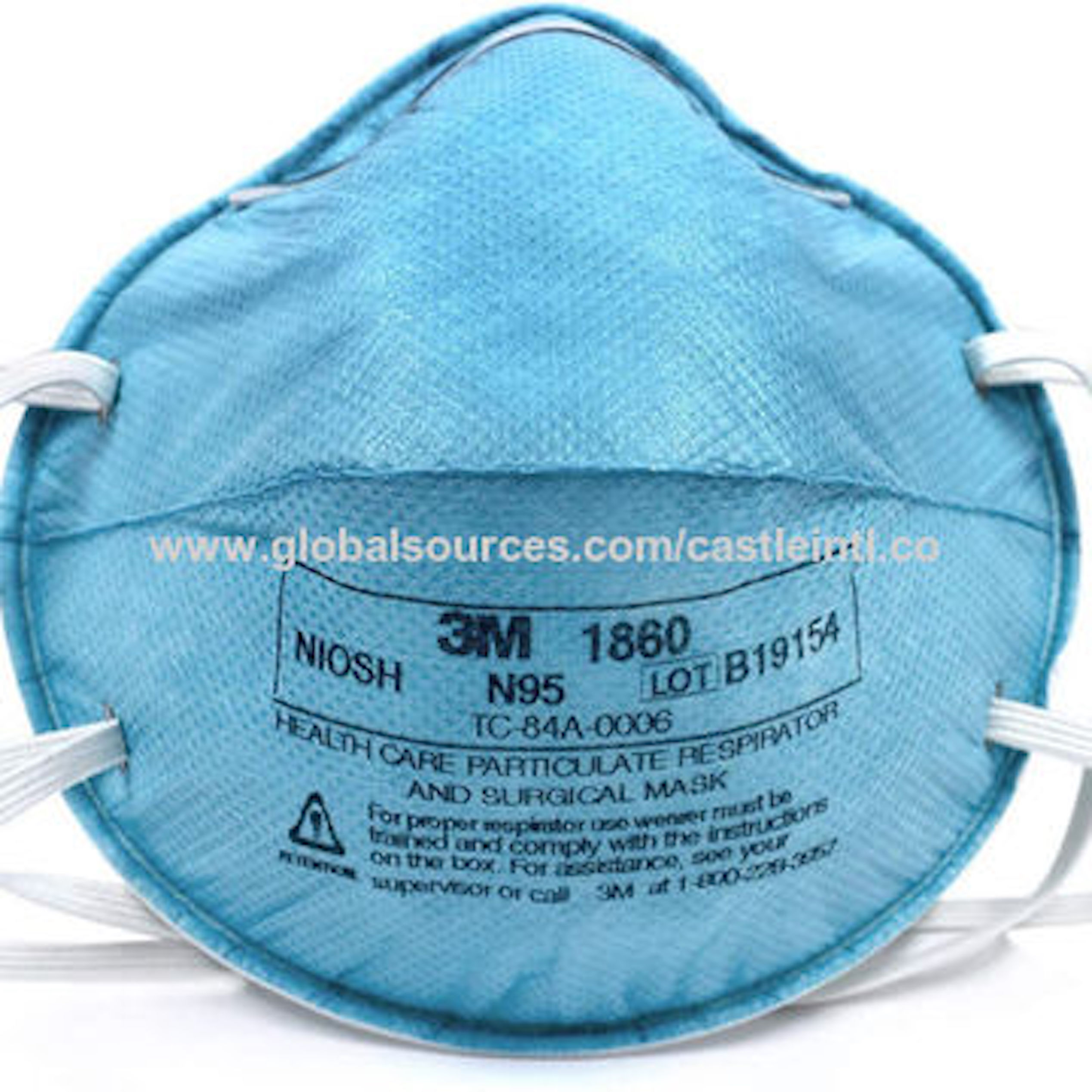 3M--N95-1860 Dust Mask Cup Style N95 Face Mask 1860 Particulate Respirator MMM