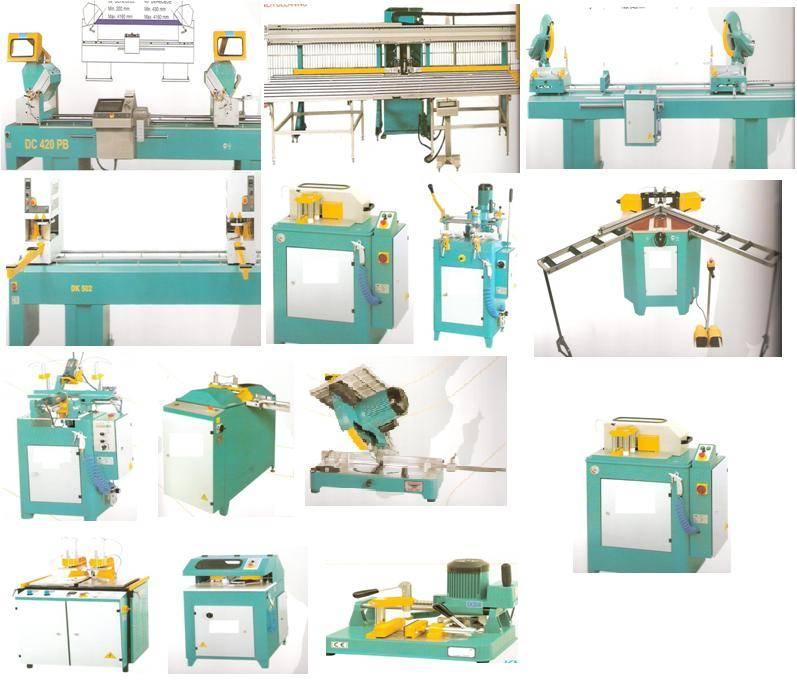 PVC AND ALUMINIUM PROFILE CUTTING AND PROCESSING MACHINES