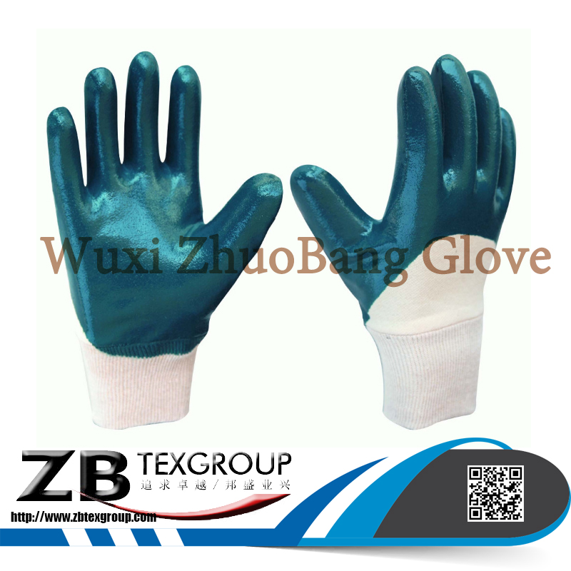Top Quality Seamless Nylon 3/4 Nitrile Coated oil resistant Hand Work Gloves Price