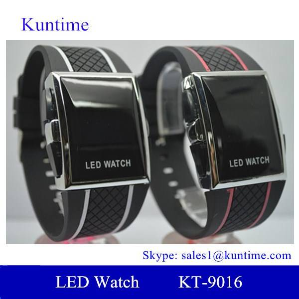 Top 2014 New Products Red Light Watch Digital LED Watch