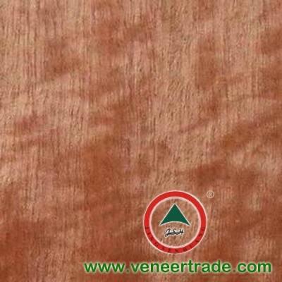figured makore wood veneer