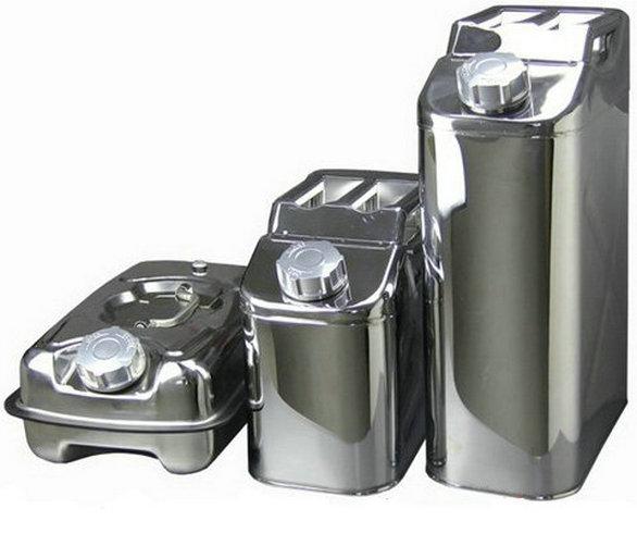 Bidón Gasolina Acero Inox / Bidón Para Carburante Acero Inox / Jerrycan Para Combustible Acero Inox