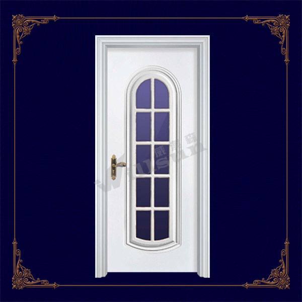 glass insert wood interior door