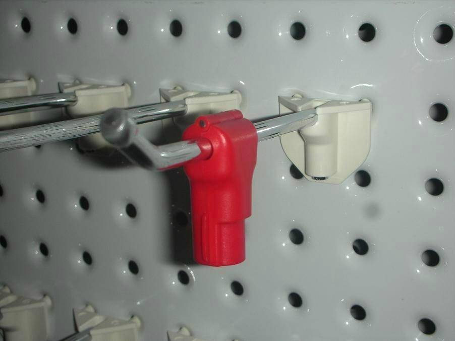 Security Display Hook with Stop Lock