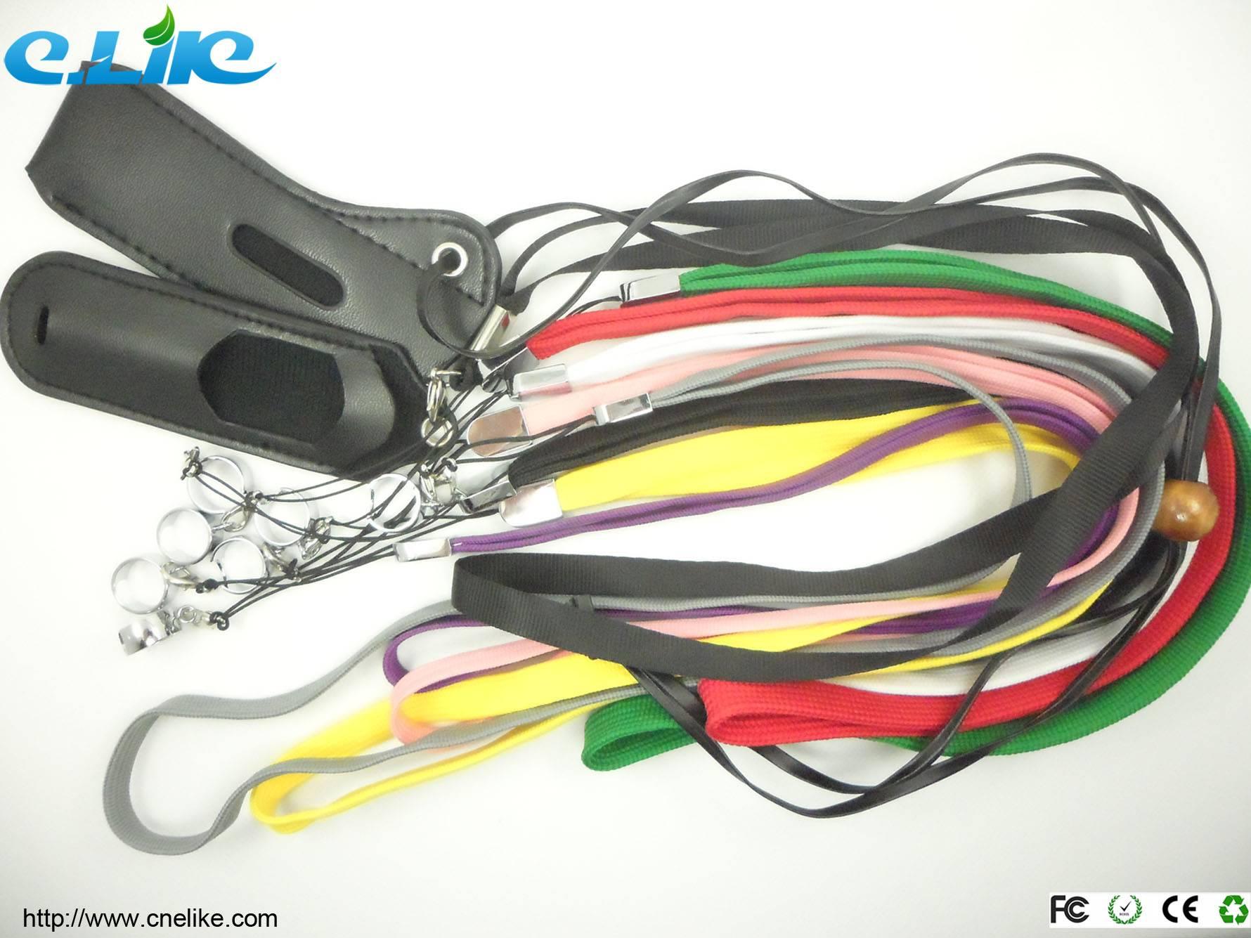 Colorful EGO Leather Necklace, Fashionable Ego necklace/EGO lanyard for E Cigar