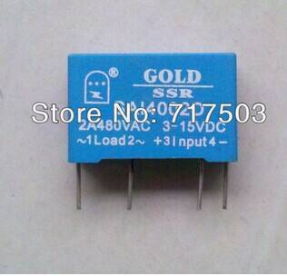 Freeshipping PCB small solid state relay single-in-line SAI4002D DC to AC 2A SSR input 3-15v or 15-2