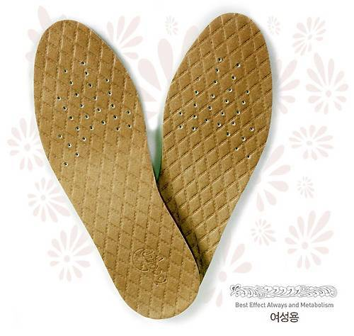 Korean Amethyst stone coated Shoes Insole
