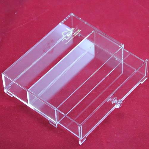 Hot selling custom high transparent acrylic storage drawer crystal storage box with 1 drawer