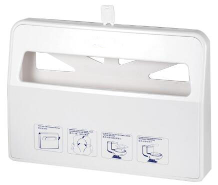 Wall Mounted Health Gards Toilet Seat Cover Dispenser White For Hand Cleaning