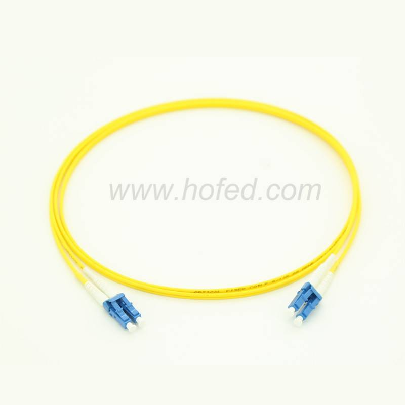 LC-LC Duplex Singleimode Fiber Optic patch Cord