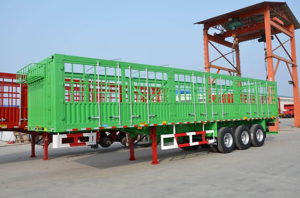 11.5m Three axles long lock bar fence semitrailer
