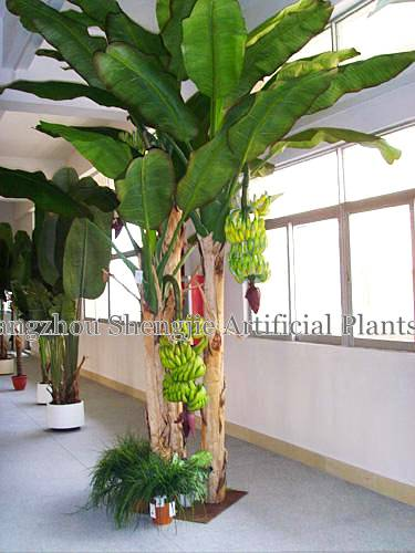 lifelike artificial banana tree(hot sale for indoor decoration )