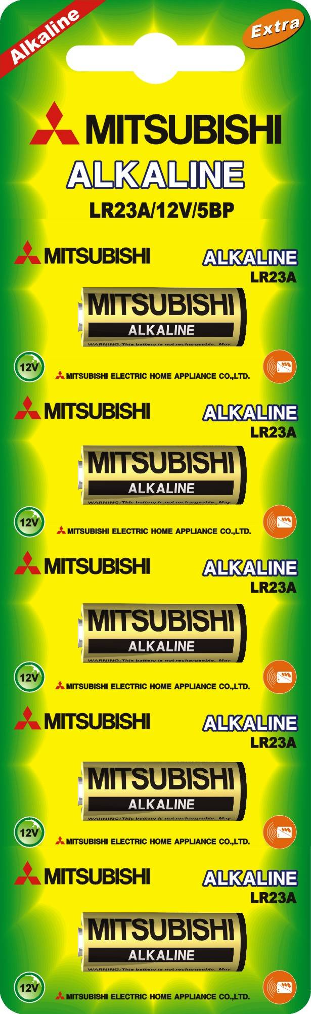 MITSUBISHI LR23A alkaline button cell
