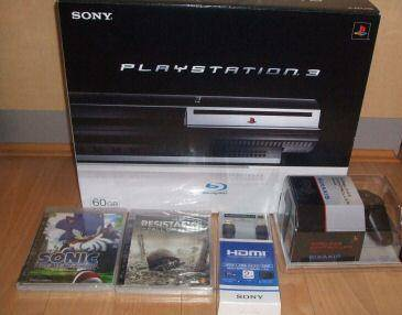 BRAND NEW PS3 SONY Playstation 3 + 2 GAMES + 2 Controls