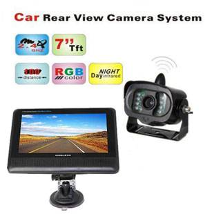 7 inch TFT LCD Monitor 2.4GHz Wireless Car Rear View Camera System with Night Vision Weather-proof