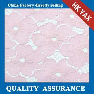 W0903 2014 Top quality 100% Nylon flower lace fabric,flower lace fabric pink,flower lace fabric