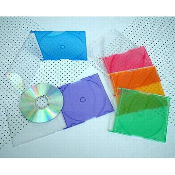 5.2mm Slim cd case with colorful tray