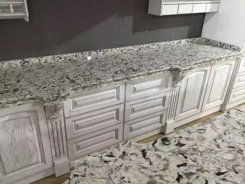 stripe zircon jade color quartz slab stone for bar countertop