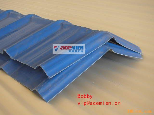Round and Trapezoidal Roof Sheet Forming Machine for PP PC PVC Plastic Tiles