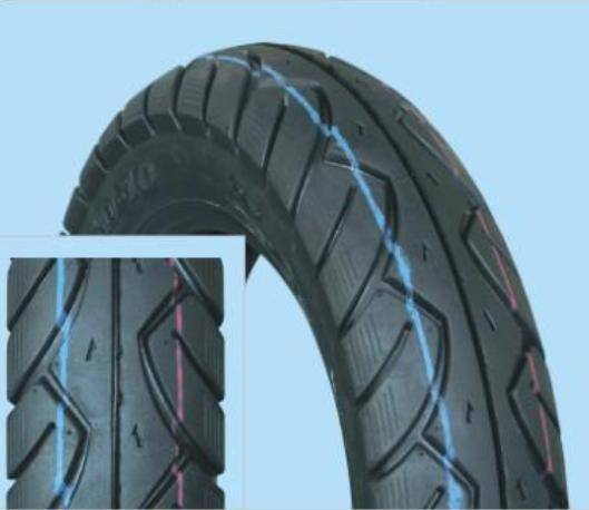 Motorcycle tubless tires with E-mark certificate