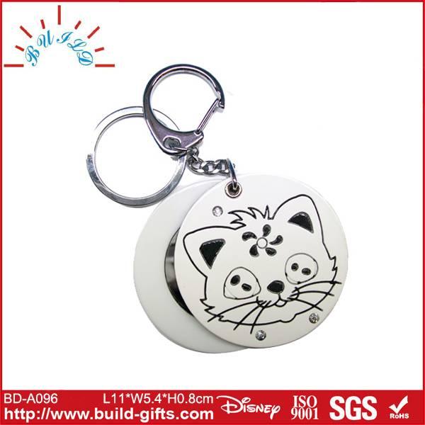 fashion round shaped acrylic key chain