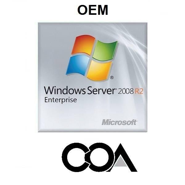 Microsoft Windows Server 2008 Enterprise 1-8cpu 25Clt OEM COA Sticker