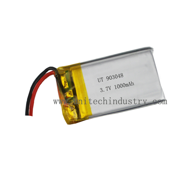 High capacity rechargebale 903048 3.7V 1300mAh Li-polymer battery