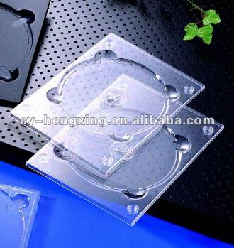 PS clear dvd tray for 1 disc